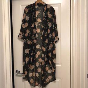 Sheer Floral Robe